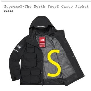 シュプリーム(Supreme)のカーゴ ジャケット Sサイズ 黒(マウンテンパーカー)