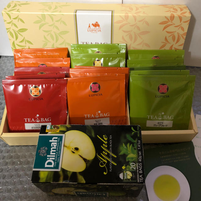 LUPICIA(ルピシア)のルピシアティーバッグセット15種&デルマアップルティー 食品/飲料/酒の飲料(茶)の商品写真