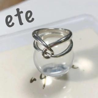 エテ(ete)のete エテ silver ダブルループ リング 2連リング(リング(指輪))