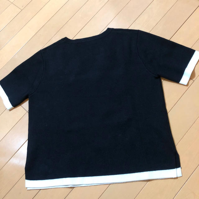 ZARA(ザラ)のZARA  レディース S 半袖ニット 黒 レディースのトップス(カットソー(半袖/袖なし))の商品写真