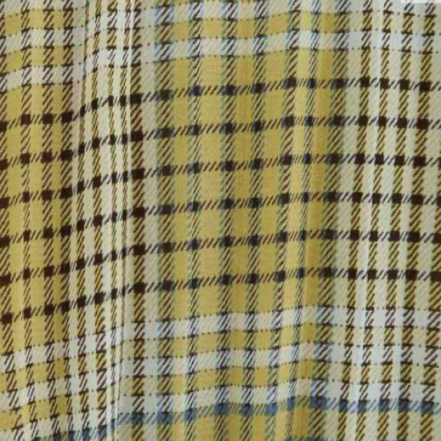 GU(ジーユー)のチェックプリーツロングスカート M 新品未使用タグ付き レディースのスカート(ロングスカート)の商品写真
