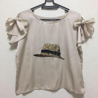 アダムエロぺ(Adam et Rope')のロペ スパンコール デザインブラウス(シャツ/ブラウス(半袖/袖なし))
