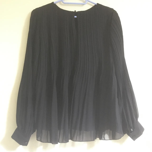 GU(ジーユー)のGU シースルーブラウス Lサイズ ブラック レディースのトップス(シャツ/ブラウス(長袖/七分))の商品写真