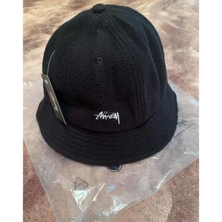 STUSSY - STUSSY Polar Fleece Bucket Hat ハット 黒