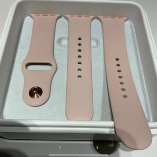アップルウォッチ(Apple Watch)の(純正品) Apple Watch 38mm ラバーバンド ピンク(ラバーベルト)