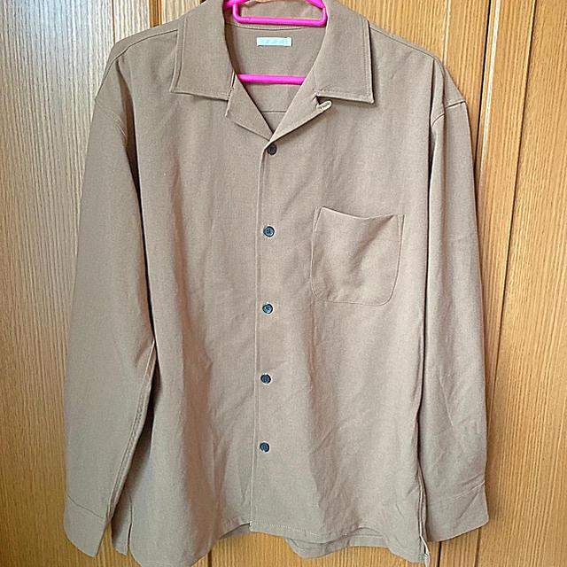GU(ジーユー)のオープンシャツ ベージュ メンズ S メンズのトップス(シャツ)の商品写真