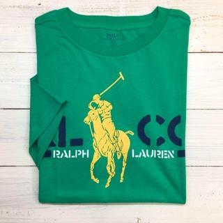 POLO RALPH LAUREN - 新品【キッズL】★ラルフ★ロゴプリント入り半袖Tシャツ/緑
