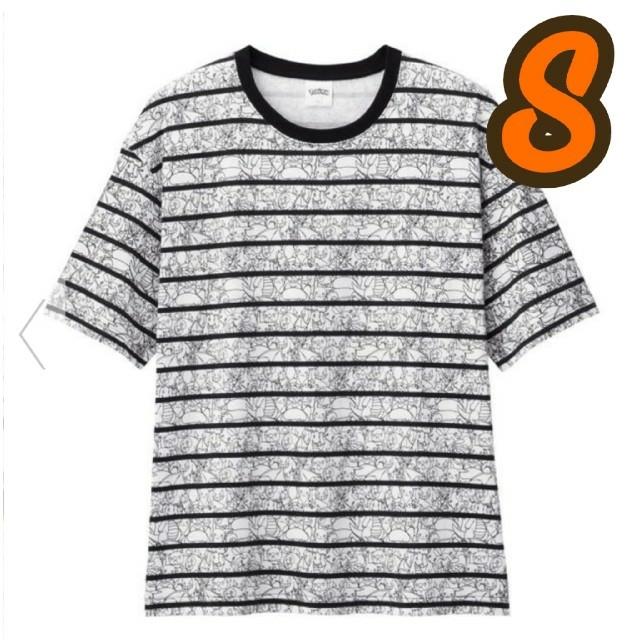 GU(ジーユー)のGU★ポケモン/コットンビッグT(5分袖) 総柄 POKEMON ICY5 メンズのトップス(Tシャツ/カットソー(半袖/袖なし))の商品写真