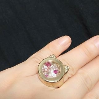 ツモリチサト(TSUMORI CHISATO)のtsumori chisato 猫型リング ゴールド(リング(指輪))