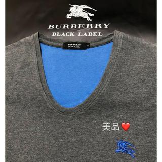 バーバリー(BURBERRY)の 一回着用【日本製】超美品バーバリーブラックレーベル Tシャツ2(Tシャツ/カットソー(半袖/袖なし))