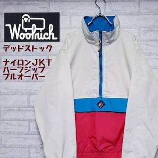 ウールリッチ(WOOLRICH)の《デッドストック》ウールリッチ ナイロン プルオーバージャケット 刺繍ロゴ XL(ナイロンジャケット)