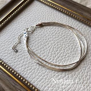 トゥデイフル(TODAYFUL)のN-027 3連snake chainbracelet(ブレスレット/バングル)