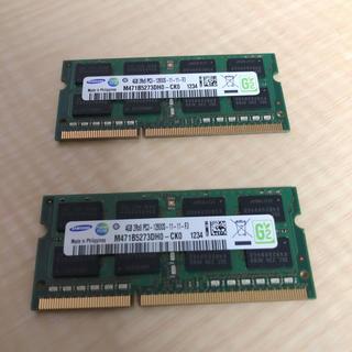 サムスン(SAMSUNG)のDDR3 SODIMM 8GB ノート用 メモリ(PCパーツ)