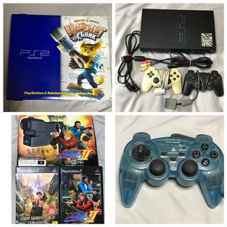 プレイステーション2(PlayStation2)のPS2 本体 箱有り ガンコンセット ゲームソフト プレイステーション2(家庭用ゲーム機本体)