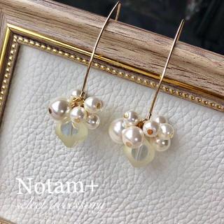 イエナ(IENA)のN-029 Many many perl hook pierce(ピアス)