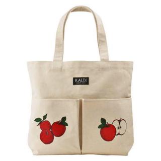 KALDI - カルディ りんごバッグ トートバック おまけつき