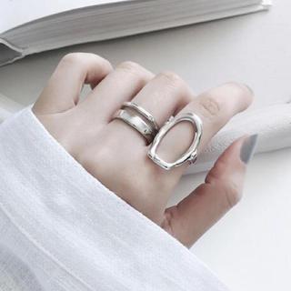 ロンハーマン(Ron Herman)のN-030 2連design ring silver(リング(指輪))