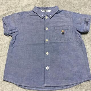 ファミリア(familiar)のfamiliar ファミリア ボタンダウン 半袖シャツ 100cm(ブラウス)