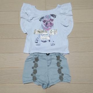 アナスイミニ(ANNA SUI mini)のアナスイミニ 半袖カットソー ショートパンツ 100cm(Tシャツ/カットソー)