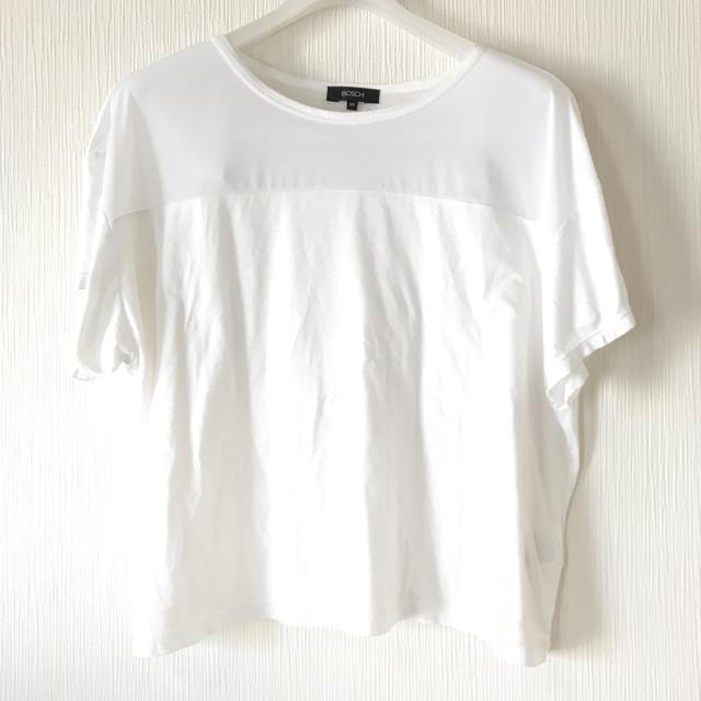 BOSCH(ボッシュ)のボッシュ Tシャツ カットソー 白T レディースのトップス(Tシャツ(半袖/袖なし))の商品写真