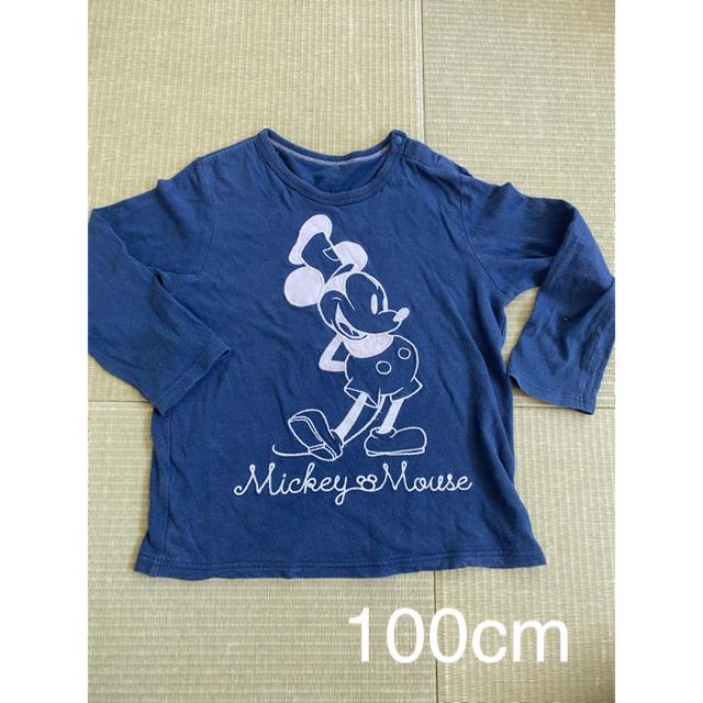 UNIQLO(ユニクロ)の100cm UNIQLO ミッキー 長袖カットソー  キッズ/ベビー/マタニティのキッズ服男の子用(90cm~)(Tシャツ/カットソー)の商品写真