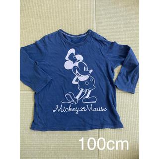 ユニクロ(UNIQLO)の100cm UNIQLO ミッキー 長袖カットソー (Tシャツ/カットソー)