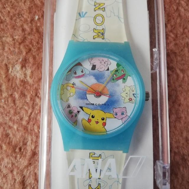 ポケモン(ポケモン)の値下げ ポケモン腕時計 全日空ロゴケース入り キッズ/ベビー/マタニティのこども用ファッション小物(腕時計)の商品写真