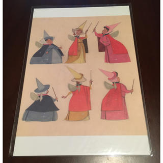 ディズニー(Disney)のDisney 眠れる森の美女 妖精3人組 ポストカード ハガキ 新品未使用(使用済み切手/官製はがき)
