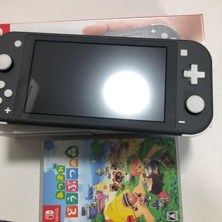 ニンテンドースイッチ(Nintendo Switch)のNintendo Switch Liteグレー あつまれ どうぶつの森セット(家庭用ゲーム機本体)