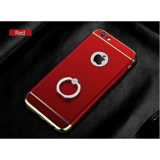 iPhone7/8 レッド サイドバンパーメタル 防水 自撮り棒 Bluetoo スマホ/家電/カメラのスマホアクセサリー(モバイルケース/カバー)の商品写真