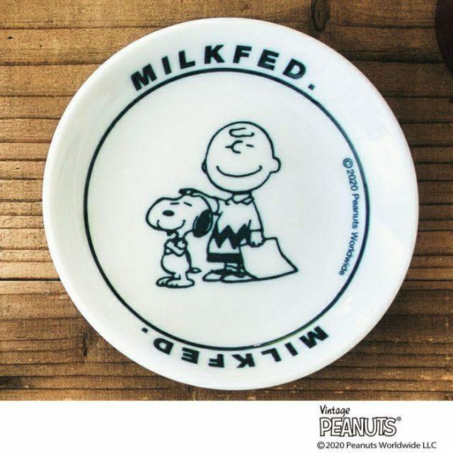 mini 6月号 付録 MILKFED.特製 スヌーピー美濃焼の豆皿 エンタメ/ホビーのおもちゃ/ぬいぐるみ(キャラクターグッズ)の商品写真