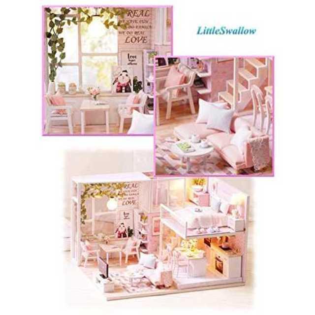 ラビットルーム[リトルスワロー] パステル ピンク リアルでかわいい小物が一杯  エンタメ/ホビーのおもちゃ/ぬいぐるみ(模型/プラモデル)の商品写真