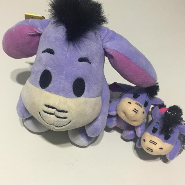 Disney(ディズニー)のディズニー(プーさん) イーヨー ぬいぐるみ 【3個セット】 エンタメ/ホビーのおもちゃ/ぬいぐるみ(ぬいぐるみ)の商品写真