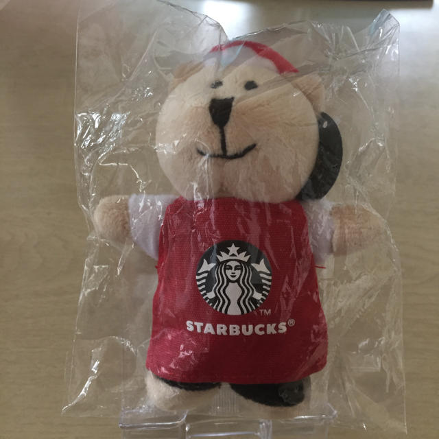 Starbucks Coffee(スターバックスコーヒー)の未開封 海外限定 スタバ ミニベアリスタ マグネット マレーシア エンタメ/ホビーのおもちゃ/ぬいぐるみ(ぬいぐるみ)の商品写真