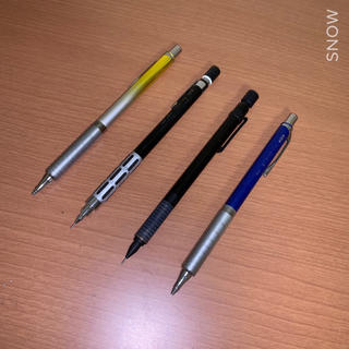 ペンテル(ぺんてる)の【送料無料】美品 製図用 高級 シャーペン 4本セット(ペン/マーカー)
