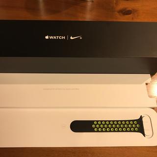 アップルウォッチ(Apple Watch)のApple Watch 42mm用のS/M ベルト(ラバーベルト)