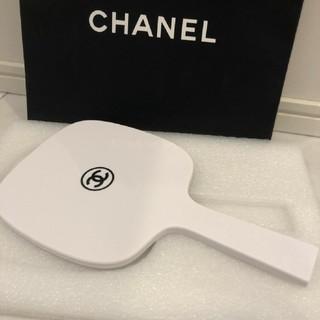 CHANEL - シャネル ノベルティ手鏡 ホワイト