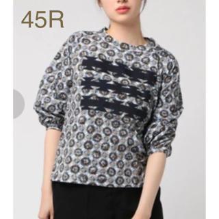 フォーティーファイブアールピーエム(45rpm)の45R キルトフラワープリントのTシャツ(Tシャツ/カットソー(七分/長袖))