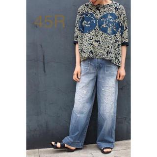 フォーティーファイブアールピーエム(45rpm)の45R  インディゴ天竺R家紋ビッグTシャツ(Tシャツ(長袖/七分))