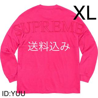 シュプリーム(Supreme)の【XL】SUPREME Overdyed L/S Top ロンT マゼンタ(Tシャツ/カットソー(七分/長袖))