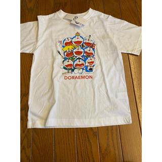 ジーユー(GU)のお値下げ不可 新品タグ付き gu ドラえもん 半袖Tシャツ 150(Tシャツ/カットソー)