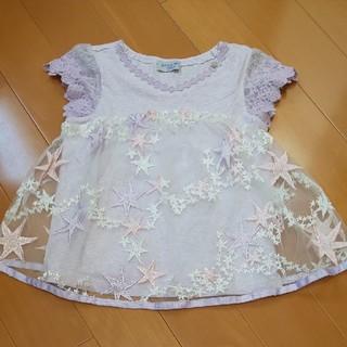 アナスイミニ(ANNA SUI mini)のANNA SUI mini 130 星刺繍チュール(Tシャツ/カットソー)