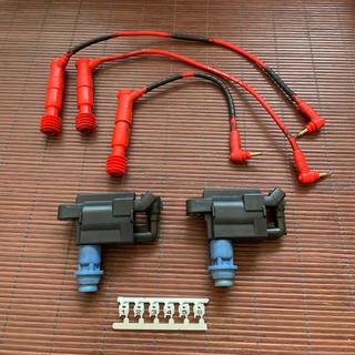 トヨタ(トヨタ)のJZX100 JZX110 イグニッションコイル2個&ウルトラ製プラグコード(車種別パーツ)