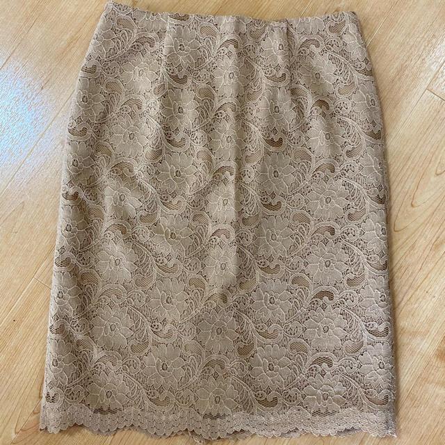 NATURAL BEAUTY BASIC(ナチュラルビューティーベーシック)のレーススカート レディースのスカート(ひざ丈スカート)の商品写真