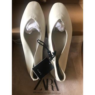 ザラ(ZARA)のZARA バレエシューズ プリーツバッグ 2点セット(バレエシューズ)
