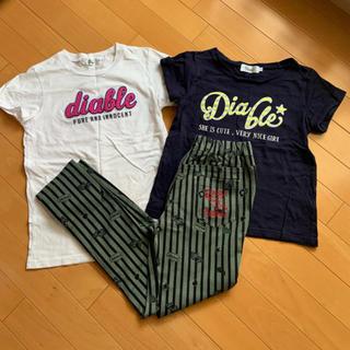 ディアブル(Diable)の【 モデル着用品 】 Diable  3点セット サイズ2(Tシャツ/カットソー)
