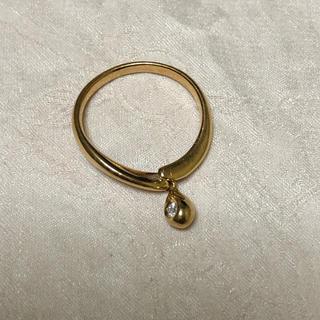 ヨンドシー(4℃)の4℃ k18  リング 雫 ダイヤモンド(リング(指輪))