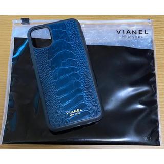 VIANEL NEWYORK スマホケース iPhone11用 ネイビー
