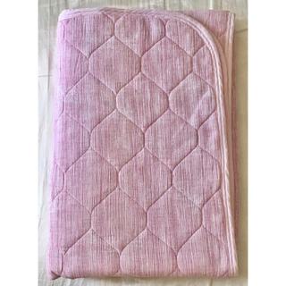 敷きパッド ベッドパッド 楊柳 100×205cm ピンク(その他)