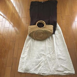 ムジルシリョウヒン(MUJI (無印良品))の半袖セーター&ロングスカート セット(セット/コーデ)